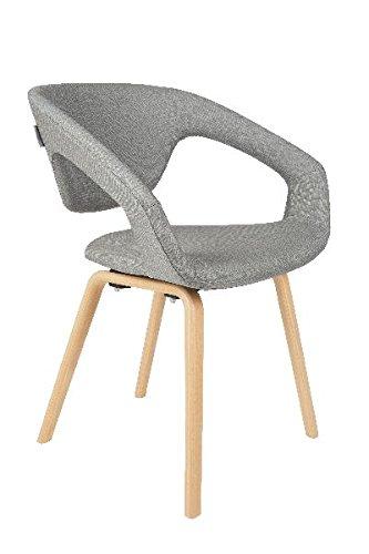 Zuiver Retro Stuhl Esszimmerstuhl Flex Back hellgrau