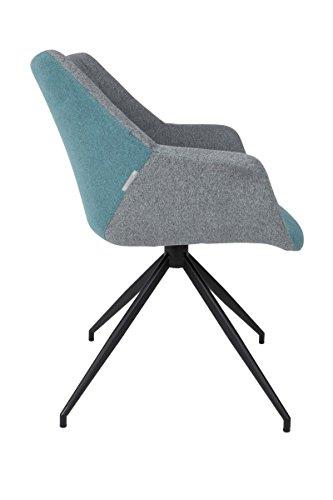 zuiver schalenstuhl mit armlehne doulton blau 0 0 esszimmerst hle. Black Bedroom Furniture Sets. Home Design Ideas