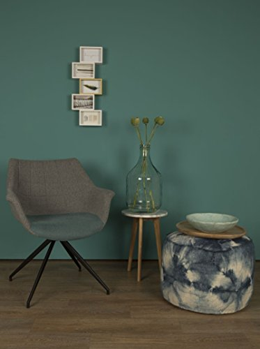 zuiver schalenstuhl mit armlehne doulton blau esszimmerst. Black Bedroom Furniture Sets. Home Design Ideas