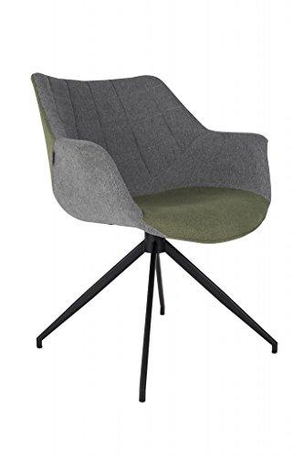 zuiver schalenstuhl mit armlehne doulton gr n esszimmerst. Black Bedroom Furniture Sets. Home Design Ideas