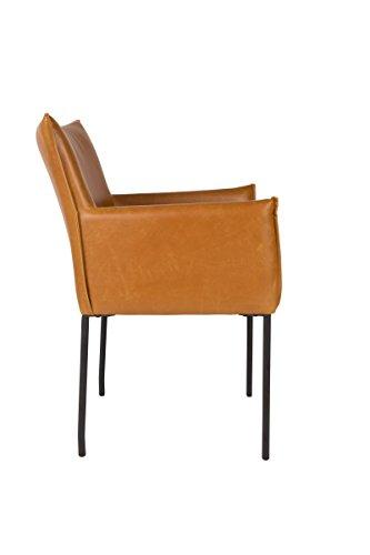 Zuiver stuhl esszimmerstuhl dion cognac lederlook for Esszimmerstuhl cognac