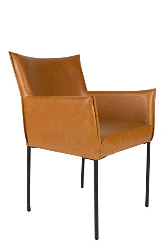 Zuiver Stuhl Esszimmerstuhl Dion Cognac Lederlook