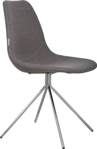 Zuiver - Stuhl FOURTEEN Chrom/Grau