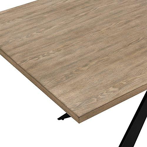 esstisch eiche natur mit 6 st hlen freischwinger gepolstert schwarz 200x100cm. Black Bedroom Furniture Sets. Home Design Ideas