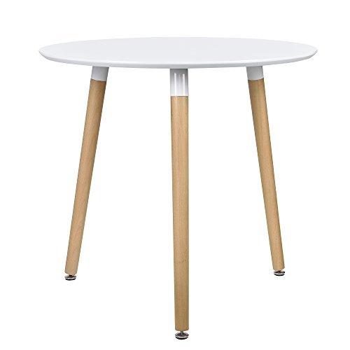 esstisch rund wei h 75cmx 80cm holz tisch retro k chentisch esszimmerst hle. Black Bedroom Furniture Sets. Home Design Ideas
