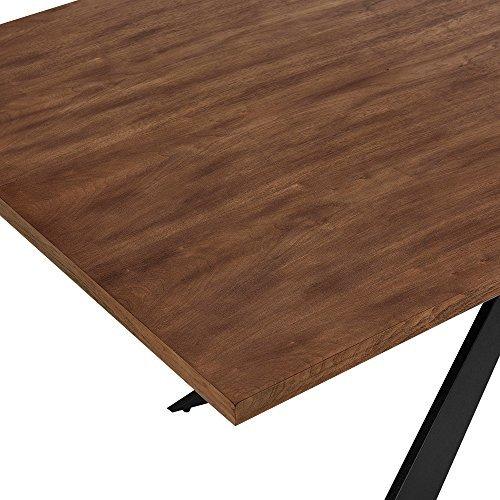 esszimmertisch f r 6 8 st hle walnuss 200x100cm holz rechteckig esszimmer wohnzimmer. Black Bedroom Furniture Sets. Home Design Ideas