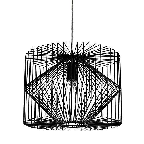 deckenleuchte schwarz metall pendelleuchte gitter esszimmer deckenlampe vintage retro. Black Bedroom Furniture Sets. Home Design Ideas