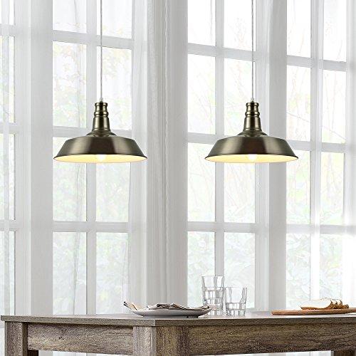 [lux.pro] LED Pendelleuchte (Messing) Deckenleuchte (1 x E27 Sockel)(130cm x Ø 36cm) Hängeleuchte / Vintage / Retro Design