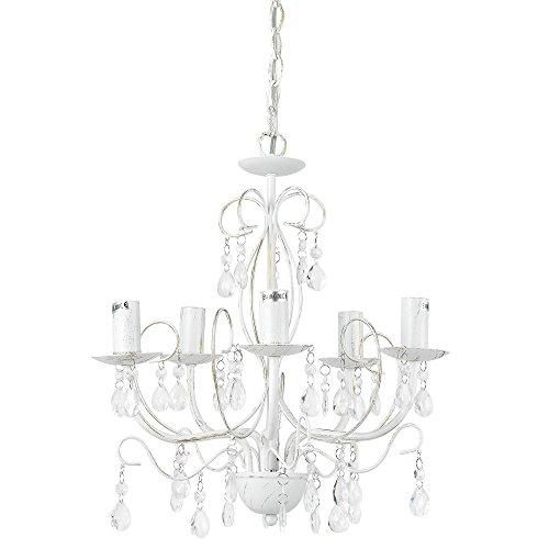 """[lux.pro] Lüster Kronleuchter """"Antique"""" [5 x E14 Sockel][40 cm x Ø 44 cm] Kronlampe [Lüster Anschluss] Zimmerlampe Wohnzimmerlampe"""
