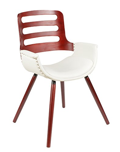 ts ideen 1x 1x design club stuhl esstisch k chen esszimmer stuhl sitz in wei rot holz. Black Bedroom Furniture Sets. Home Design Ideas
