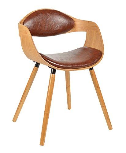 ts ideen 1x design club sessel esstisch k chen esszimmer stuhl sitz in braun holz. Black Bedroom Furniture Sets. Home Design Ideas