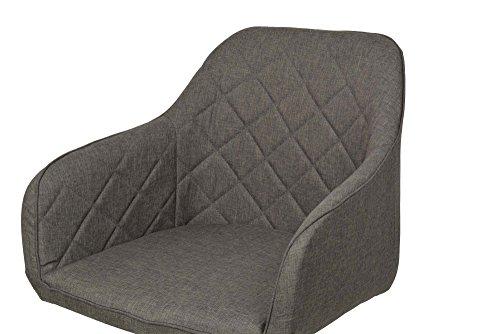 ts-ideen Lounge Design Sessel Stuhl Clubsessel Holz anthrazit Stoffbezug zum sitzen im Wohnzimmer Büro Esszimmer oder im Flur