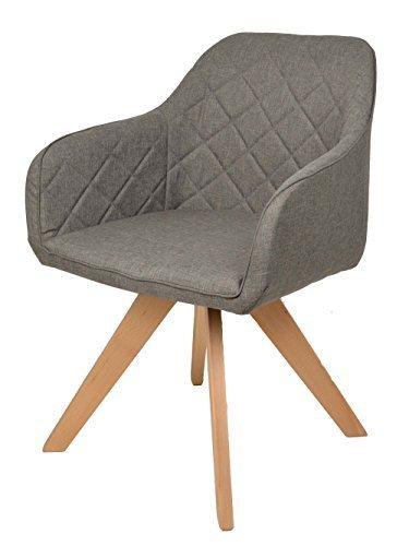 Polsterstuhl grau mit holzbeinen esszimmerstuhl for Design stuhl range