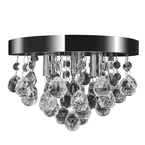 vidaXL Deckenleuchte Kronleuchter Pendelleuchte Kristall Lampe Chrom Leuchte