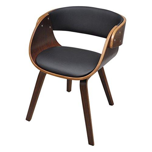 vidaXL Esszimmer Stuhl Stühle Sessel Esszimmerstühle Holzrahmen braun