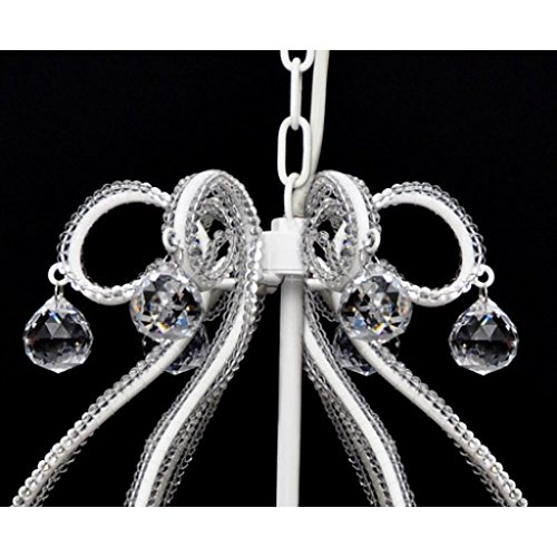 vidaXL Kristall Kronleuchter mit 2300 echten Glas Kristallen weiß