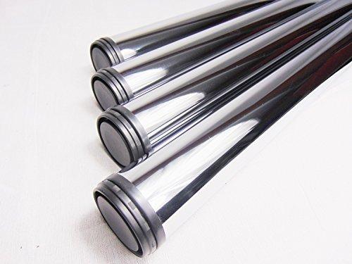 4x GedoTec® Chrom Tischbein Tischfuss Möbelfuß Verstellfuß Stahl | Höhe 710 mm | +30 mm höhenverstellbar | Ø 60 mm | inkl. Befestigungsmaterial