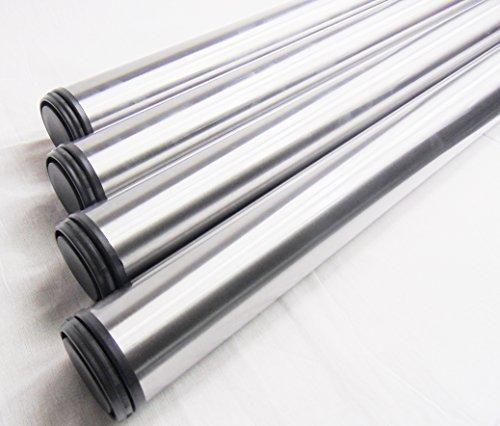 4x GedoTec® Edelstahl Tischbein Tischfuss Möbelfuß Verstellfuß | Höhe 710 mm | 30 mm Höhenverstellbar | Ø 60 mm | inkl. Befestigungsmaterial