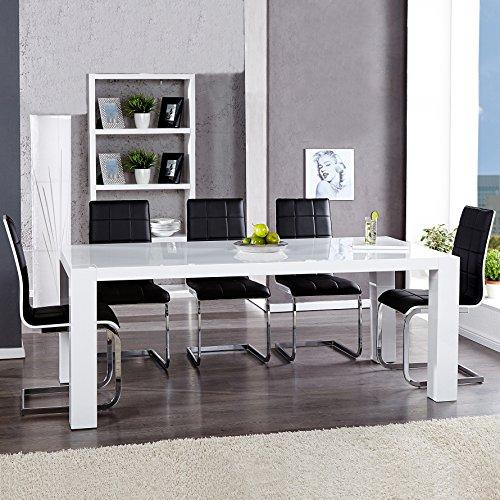 cag designer esstisch k chentisch york weiss. Black Bedroom Furniture Sets. Home Design Ideas