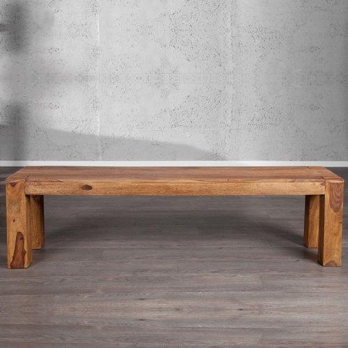 cag sitzbank pali aus sheesham massiv holz gewachst 160cm. Black Bedroom Furniture Sets. Home Design Ideas