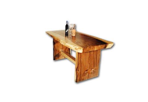 DIVERO Esstisch aus Suar Holz 200cm massiv Baumtisch