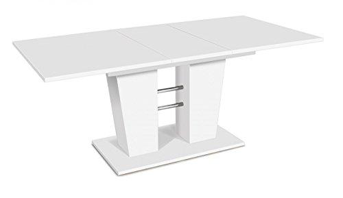 Esstisch Breda 140 x 90 cm, Tisch ausziehbar in weiss, Ausziehtisch