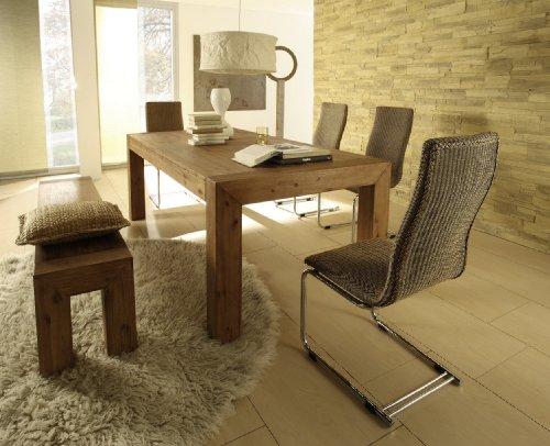 Esstisch Designer Tisch Esszimmertisch Massivholz Massiv 160 x 90 cm Akazie Holz