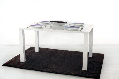 Esstisch Esszimmertisch Wohnzimmertisch Hochglanz weiß lackiert in 140 x 80 cm Gastro Gastronomie