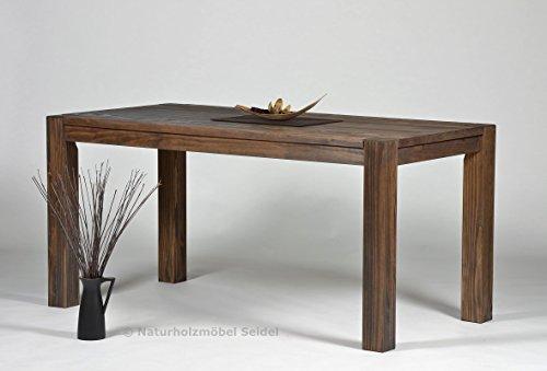 Esstisch ,,Rio Bonito,, 160x80cm, Pinie Massivholz, geölt und gewachst, Tisch Farbton Cognac braun , Optional: passende Bänke und Ansteckplatten