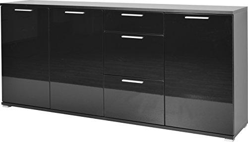 Germania 3442-83 Sideboard GW-Almeria, 192 x 88 x 40 cm, schwarz