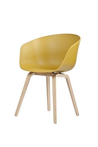 HAY - About a Chair AAC 22 - senfgelb - Eiche geseift - Hee Welling - Design - Esszimmerstuhl - Speisezimmerstuhl