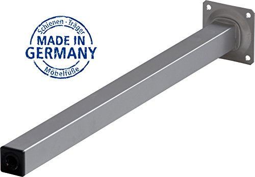 IB-Style - 4er Set Tischbeine ECKIG | 9 Längen | 4 Farben | 25x25 mm | 40 cm SILBERMATT - Möbelfüss Unterstellfuss