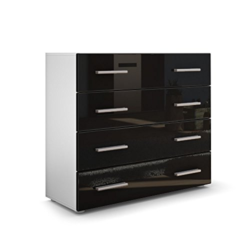 kommode sideboard pavos in wei matt schwarz hochglanz. Black Bedroom Furniture Sets. Home Design Ideas