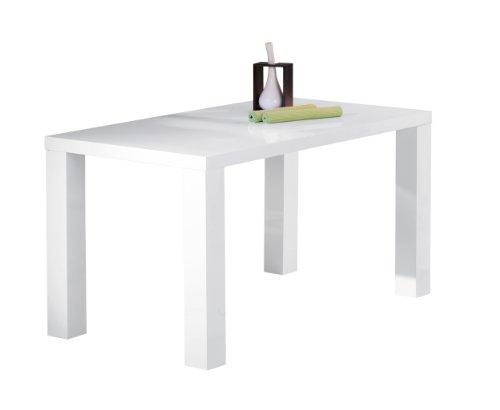 Links 50700300 Esstisch weiß hochglanz Küchentisch Esszimmer Tisch Küche 160x80 cm modern NEU