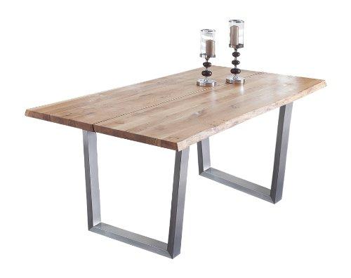 Presto mobilia 11000 Esstisch Massivholztisch Tisch Castillo 66, 200 x 100 x 77 cm massiv Eiche geölt