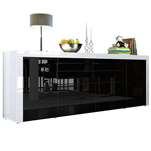 Esszimmer esszimmerstühle grau stoff : Sideboard-Kommode-La-Paz-V2-in-Wei-Hochglanz-Schwarz-Hochglanz-Wei ...
