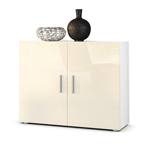 Sideboard Kommode Vega in Weiß / Creme Hochglanz