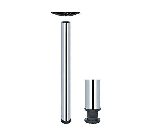 Tischbein, für Küchenarbeitsplatte, Tisch, anpassbar, 710, 820, 1100 820 mm poliertes Chrom