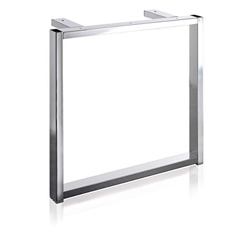 Tischgestell S9001 Edelstahl-Optik f. Tisch B800/L800-1000 mm