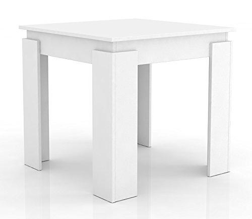 VCM 904134 Esszimmertisch Vikosa, 80, Esstisch aus Holz weiß
