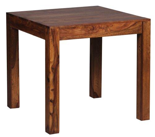 Wohnling WL1.319 Design Esstisch quadratisch Massiv Sheesham Massivholz 80 x 80 cm