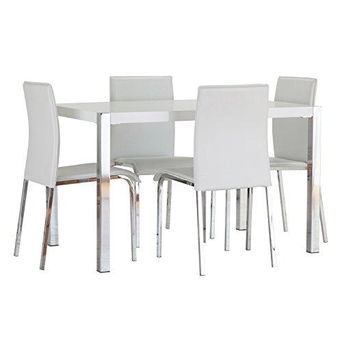 WorldStores Charisma Esstisch und Stühle, Weiß