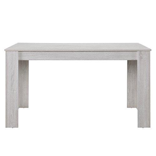 [en.casa] Esszimmertisch für 6 Stühle Eiche weiß 140x90cm Küche rechteckig Esszimmer Wohnzimmer