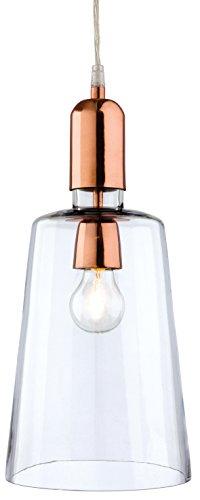 2350CP Firstlight Hängeleuchte Edison Screw, E27, 60 W, 1 Craft Anhänger, Kupfer, mit transparentem Glas