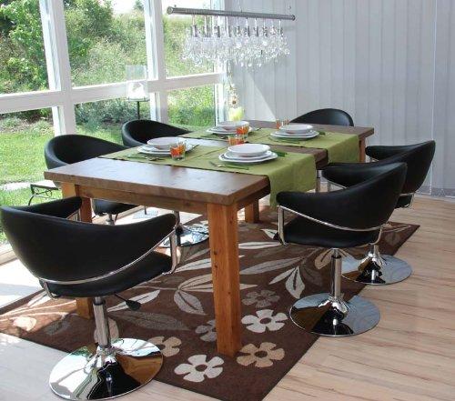 6x Esszimmerstuhl Eßzimmerstuhl Stuhl COMO ~ schwarz