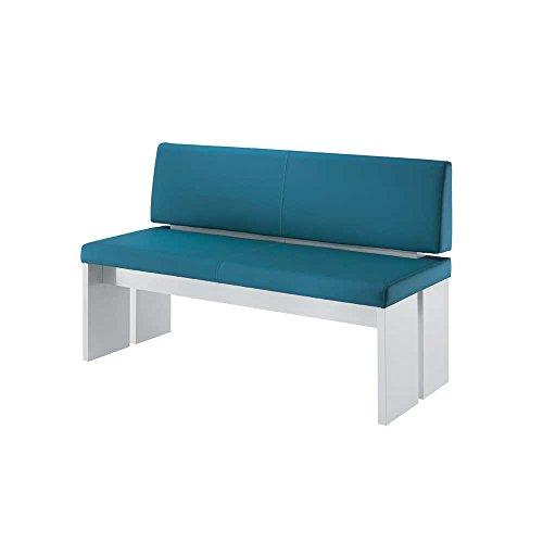 Bank in Blau-Weiß Weiß Breite 160 cm Sitzplätze 3 Sitzplätze Pharao24