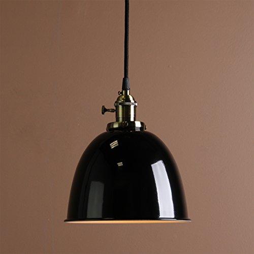 Buyee® Modern Vintage Industrial Metal Lampe Edison-Lampe Retro Lampe Shade Loft Coffee Bar Küchenhängependelleuchte Lampen Licht (Schwarz)