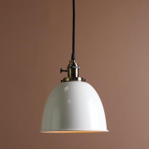 Buyee® Modern Vintage Industrial Metal Lampe Edison-Lampe Retro Lampe Shade Loft Coffee Bar Küchenhängependelleuchte Lampen Licht (Weiß)