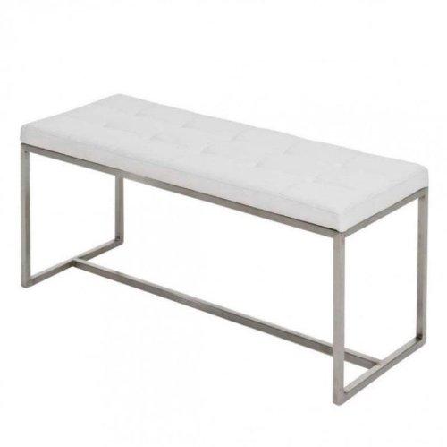 clp 2er edelstahl sitzbank barci 100 x 40 cm gepolstert. Black Bedroom Furniture Sets. Home Design Ideas