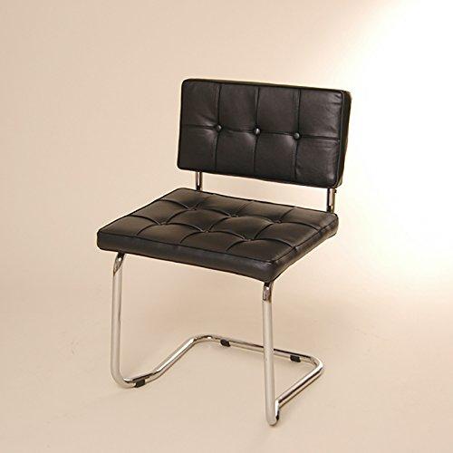 DESIGN FREISCHWINGER STUHL retro lounge küchenstuhl L36 schwarz